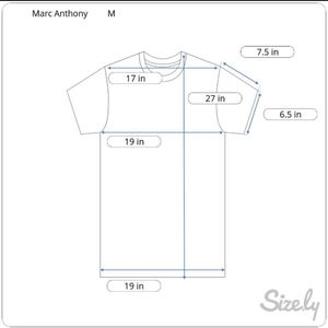 Marc Anthony Shirts - Marc Anthony Short Sleeve Henley Sz.M